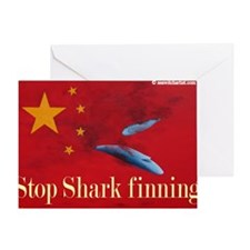 shark finning tee shirt Greeting Card