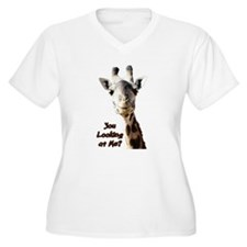 You Looking at Me? giraffe Plus Size T-Shirt