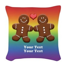 Personalize Gingerbread Men Couple Rainbow Woven T