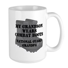 National Guard Grandpa Grandson Combat Boots Mugs