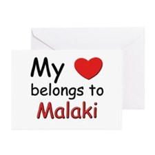 My heart belongs to malaki Greeting Cards (Package