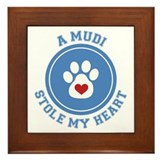Mudi/My Heart Framed Tile