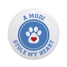 Mudi/My Heart Ornament (Round)