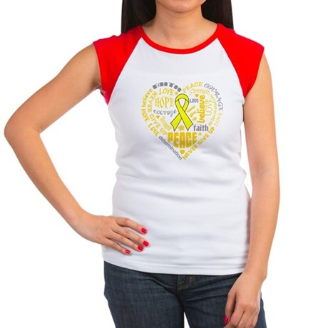 Sarcoma Heart Words Women's Cap Sleeve T-Shirt