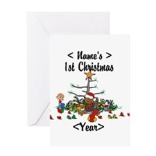 Personalized 1st Christmas Greeting Card