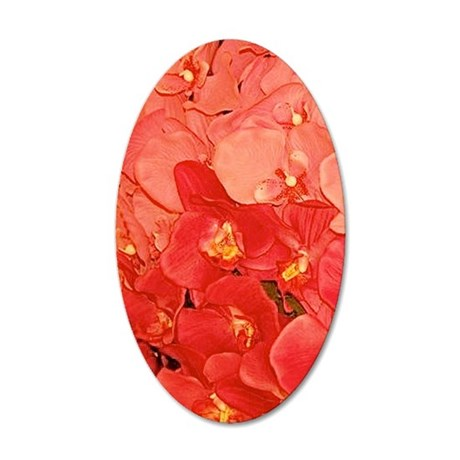Peach Orchid Fantasy 23x35 35x21 Oval Wall Decal