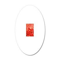 Peach Orchid Fantasy 23x35 20x12 Oval Wall Decal