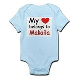 My heart belongs to makaila Onesie