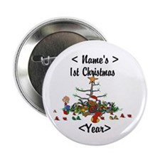 "Personalized 1st Christmas 2.25"" Button"