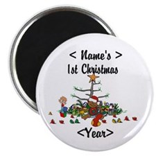 Personalized 1st Christmas Magnet