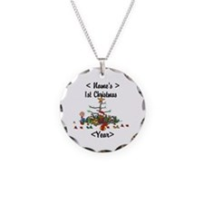 Personalized 1st Christmas Necklace