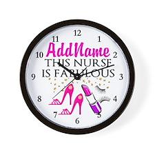 FABULOUS NURSE Wall Clock