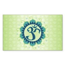 Lotus Aum Blue/Green - Rectangle Decal
