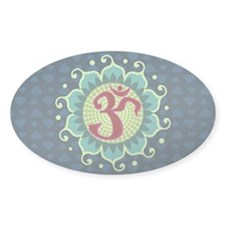 Lotus Aum - Oval Bumper Stickers