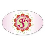 Lotus Aum Pink/Red - Oval  Aufkleber
