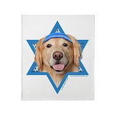 Hanukkah Star of David - Golden Throw Blanket