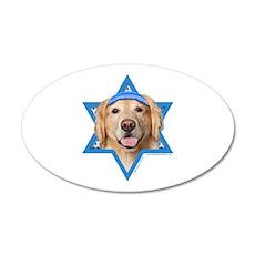 Hanukkah Star of David - Golden 20x12 Oval Wall De