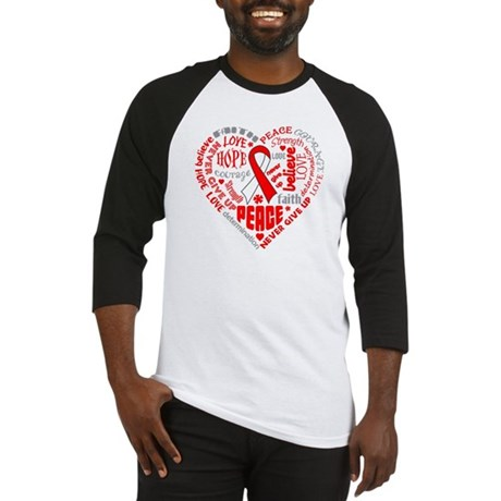 Oral Cancer Heart Words Baseball Jersey