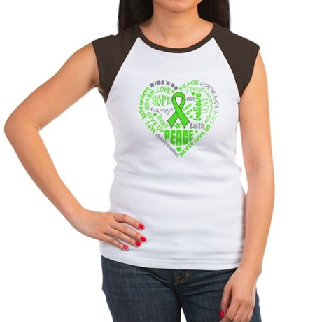 Muscular Dystrophy Heart Words Women's Cap Sleeve