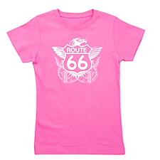 route_66_t_shirt_black Girl's Tee