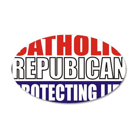 Catholic Republican (5x3) 35x21 Oval Wall Decal
