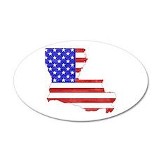 Louisiana Flag 20x12 Oval Wall Decal