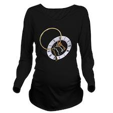 UnlockingTime070209 Long Sleeve Maternity T-Shirt