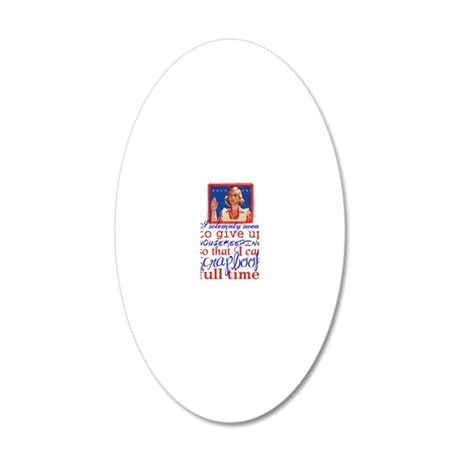 housekeeping-rd 20x12 Oval Wall Decal
