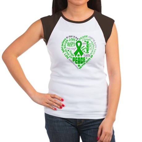 Kidney Cancer Heart Words Women's Cap Sleeve T-Shi