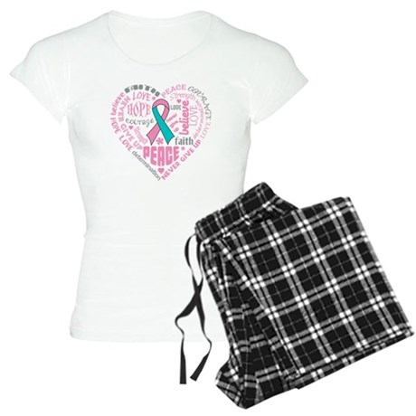 Hereditary Breast Cancer Heart Words Women's Light