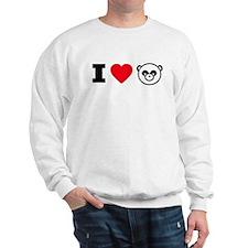 I Heart Pandas Sweatshirt