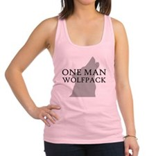 ONE MAN PACK WHITE Racerback Tank Top