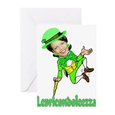 LepreCondoleezza Greeting Cards (Pk of 10)