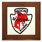 Medicine Bow Marshal Framed Tile
