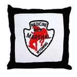 Medicine Bow Marshal Throw Pillow