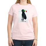 wuff you Women's Pink T-Shirt
