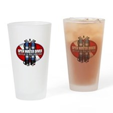 Open Water Diver (Scuba Tanks) Drinking Glass