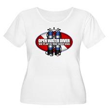 Open Water Diver (Scuba Tanks) Plus Size T-Shirt