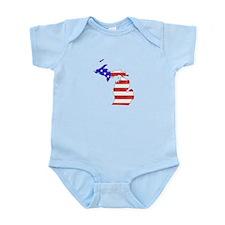 Michigan Flag Infant Bodysuit