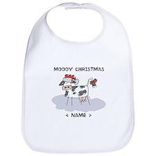 Customize Merry Christmas Cow Bib