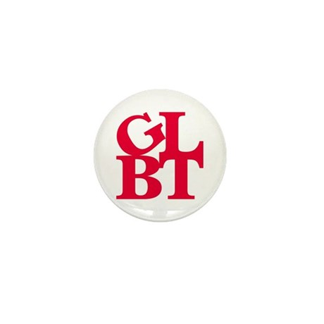 GLBT Red Pop Mini Button