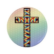 "Woven Cross 3.5"" Button"