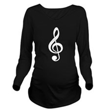 Born To Sing Long Sleeve Maternity T-Shirt