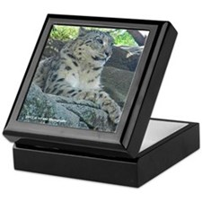 Snow Leopard Cub Keepsake Box