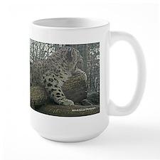 Snow Leopard Cub Yawn Mug