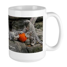 Snow Leopard Cubs And Pumpkin Mug