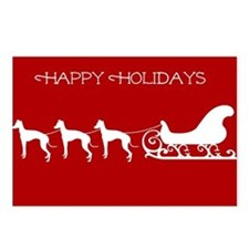 Italian Greyhound And Sleigh Postcards (Package Of