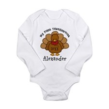 Baby Turkey 1st Thanksgiving Long Sleeve Infant Bo