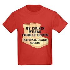 National Guard Cousin Desert Combat Boots T-Shirt