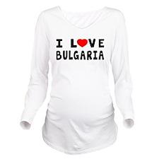 I Love Bulgaria Long Sleeve Maternity T-Shirt